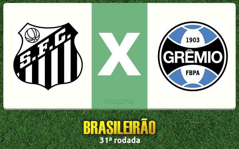 Brasileirão 2016: Santos e Grêmio empatam em 1 a 1