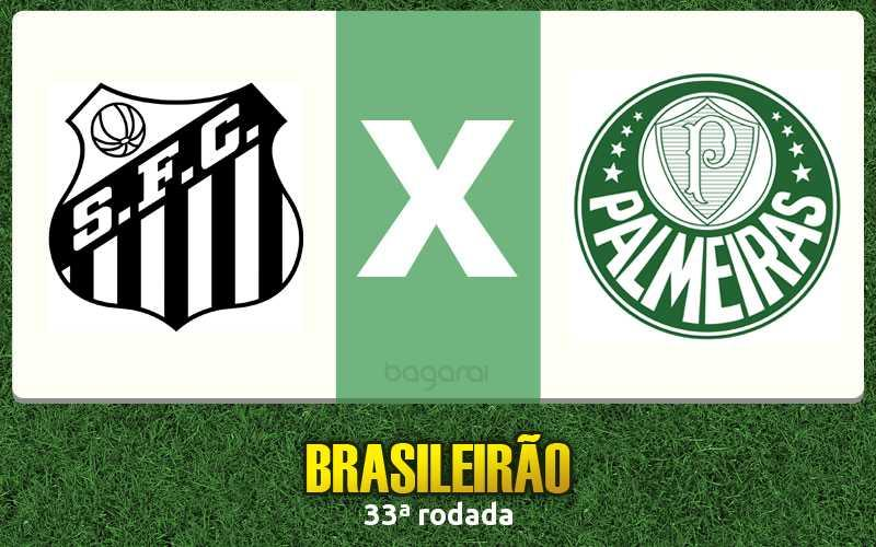 Santos FC venceu o Palmeiras pela 33ª rodada do Brasileirão 2015