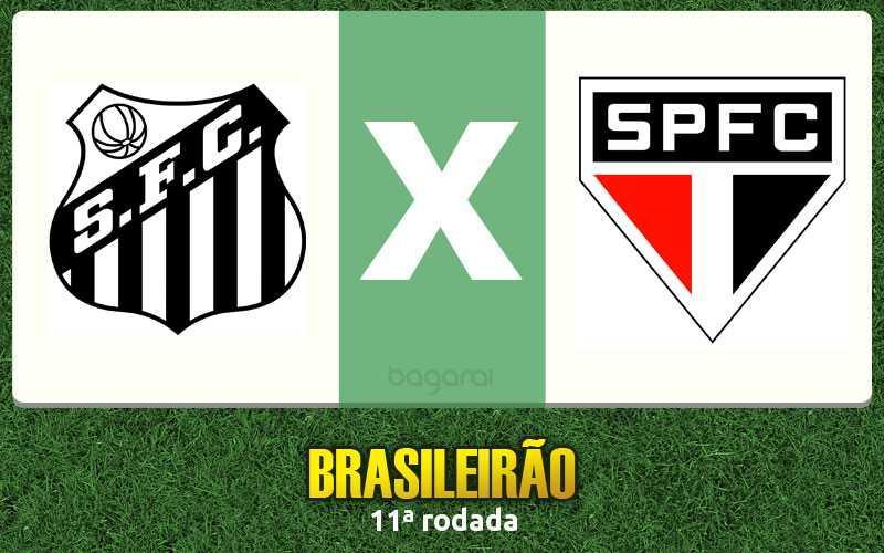 Santos FC mete 3 no São Paulo FC pela 11ª rodada do Brasileirão 2016