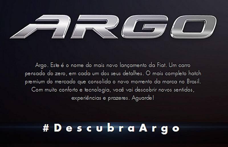 Sucessor do Punto será o novo Fiat Argo